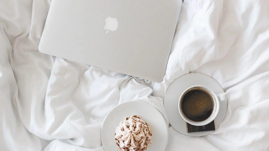 Кофейная кровать MacBook